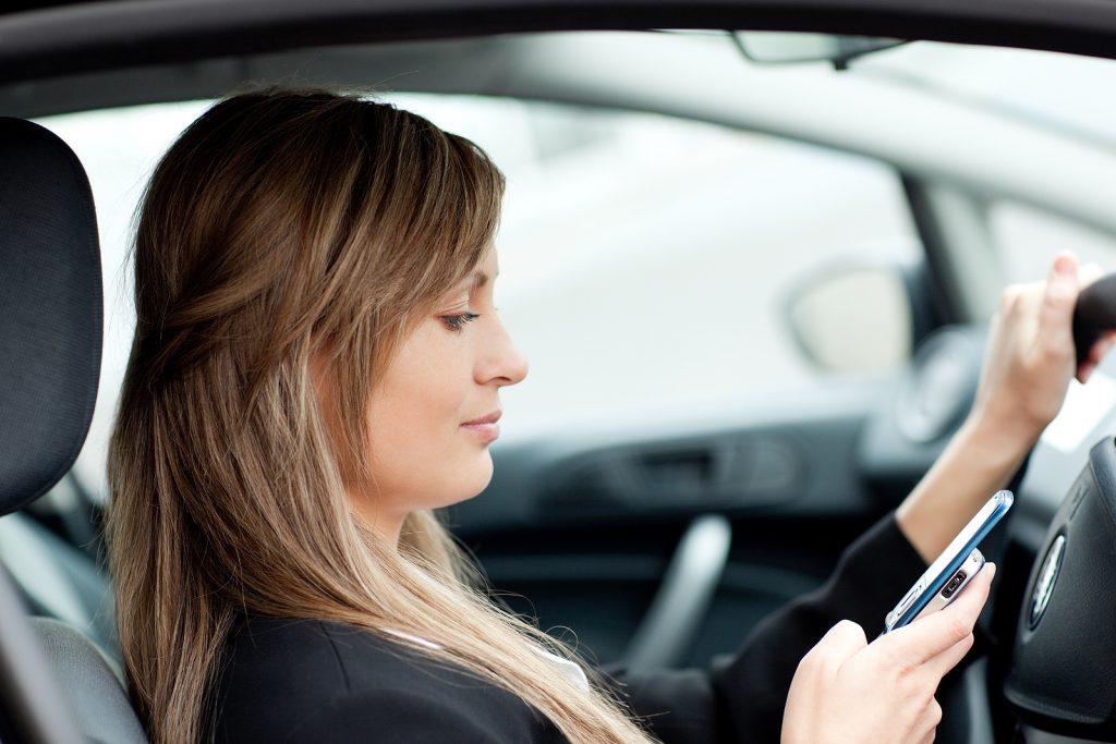 Businesswoman Sending A Text