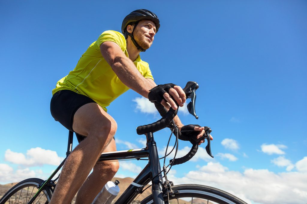 Biking man cycling