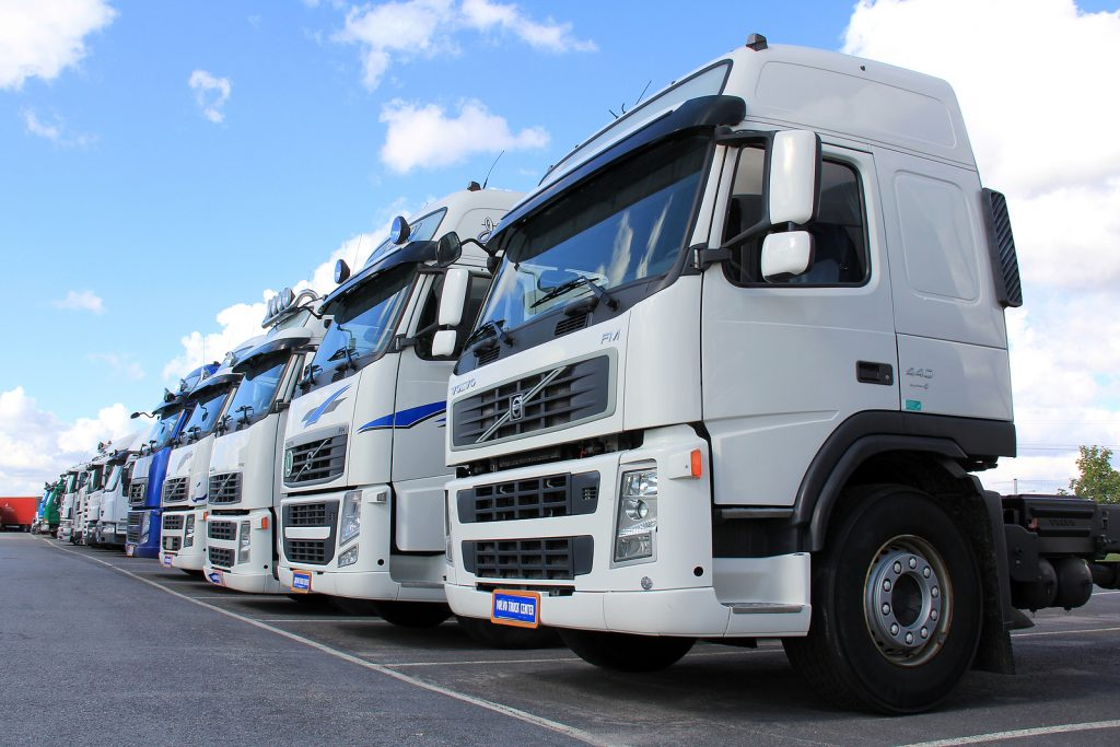 Volvo Trucks in row