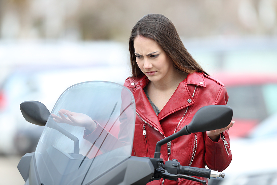 Portrait Of A Confused Biker