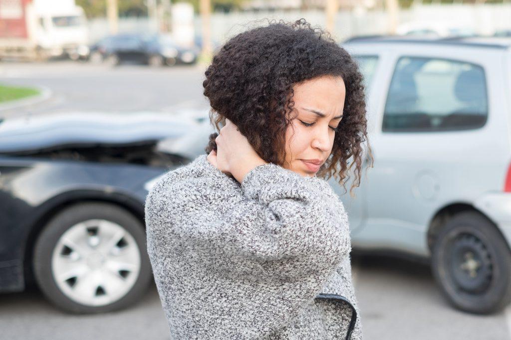 Injured Woman Feeling Bad