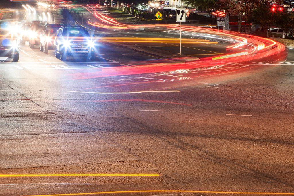 The headlights and brakelights