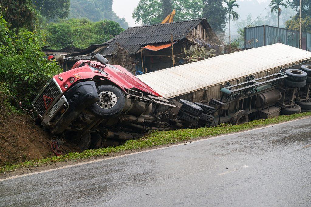 Accident On Mountainous Road